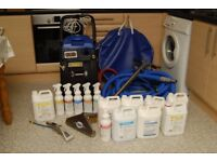 Carpet cleaning machine start up package. Including all tools & chemicals.