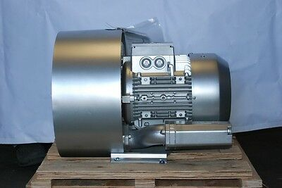 Regenerative Blower 8.4hp 226cfm 200h2o Press 480v3ph Side Channel Blower