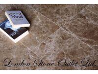 Brown Empredor Polished Marble (61cm x 30.5cm x 1.2cm) - £25 per m2 - Premium Grade