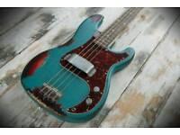 Fender Squier P Bass relic roadworn custom Wilkinson pickups LOOOK!!!