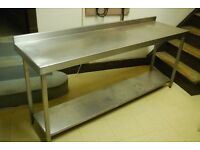 stainless steel table 1800mm x 500mm x840mm