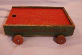 Truck Trolley Pull - Along - wooden - vintage 1940's era.