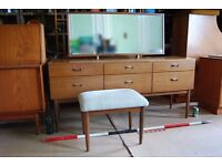 Danish modern teak era dressing table drawers mid century modern vintage retro Brighton gplanera