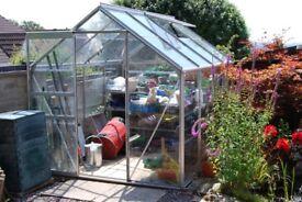 8' x 6' Aluminium Greenhouse