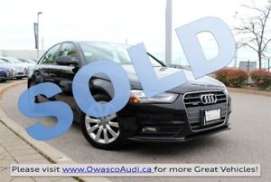 2013 Audi A4 *SOLD* Tiptronic quattro w/ Heated Leather Seats