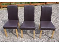 DINNING/BEDROOM CHAIRS X 6