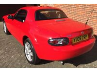 Mazda-MX5 1.8 Convertible with retractable hard top for all-year round use