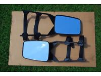 Pair of clip-on towing mirrors