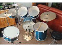 Mapex M Birch 6 piece drum kit + full Zildjian symbols