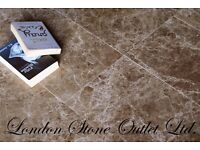 Brown Empredor Polished Marble Tiles (61cm x 30.5cm x 1.2cm) - PREMIUM MARBLE ONLY £25 per m2