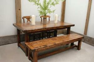Locally Crafted: Reclaimed Wood Dining Table starting @ $1595, bench $695 & more! By LIKEN Woodworks