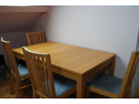 Dining table, extendable, and 4 chairs, IKEA