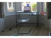 Selling: Small glass office table