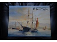 3 Military Books - Jane's Ships of WW2 and Aircraft of WW1 & WW2 AND Robert Taylor Martime Paintings