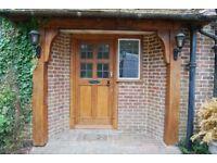 Lovely solid oak front door