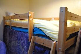 Single Pine Cabin Bed with Mattress