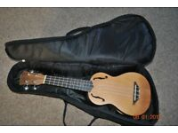 Stagg saprano ukulele with padded gigbag.