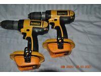 Dewalt 18V Professional Cordless Drill x 2