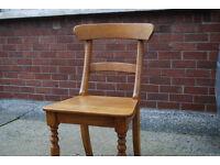 6 hard wood, hand made dinning chairs