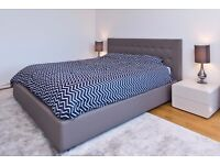 Leather Ottoman Bed Frame & Headboard from GoModern (Super King)