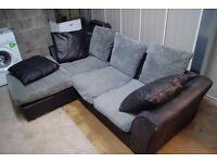 Grey & Black Coner Sofa