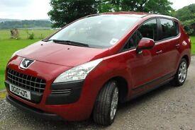 Stunning metallic Red Peugeot 3008, Auto, diesel. New MOT, 4 New Tyres.