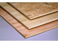 PLYWOOD SHEETS OSB BOARDS 8 FOOT X 4FOOT 2.4M X 1.2M flooring marine sterling