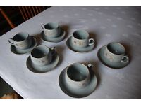 Denby 'Reflections' cups and saucers - 6