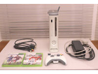 Xbox 360 with Wireless Controller and WiFi Adaptor in Good Working Order