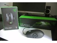 Razer Naga Hex V2 MOBA Gaming Mouse With Razer Goliathus Mouse Pad (Both As New Condition)