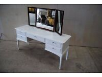 Stag 5 drawer dressing table with triple mirror