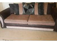 DFS 3 and 4 seater sofas including footstool - £550 ONO