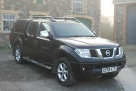Nissan Navara Pickup late 2008 2.5 dCi Outlaw King Cab 4dr 4WD, low miles.