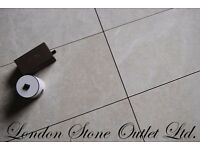 Platinum Cream Polished Marble Tiles 61cm x 30.5cm x 1.2cm - Real Natural Stone Marble