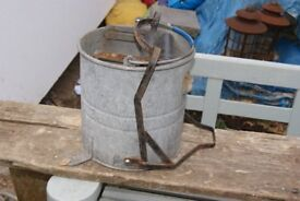old galvanised mop bucket planter ornament