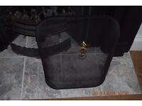 Fire guard fireguard for real fire black with brass/gold