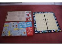 Scrabble for Juniors and a Crossword Game too - Spear's Games - Boxed in good condition 1970's.
