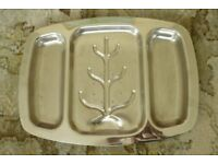 Large Cavalier Spiked Stainless Steel Carving Tray