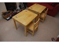 1 Wooden Children's Desk and Chair