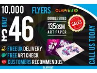Flyer Printing London CHEAP Leaflets 10,000 ONLY £46 FAST DELIVERY BUY NOW