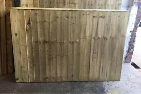 TANALISED HIGH QUALITY STRAIGHT TOP GARDEN FENCE PANELS 🌳