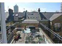 Large 3 double bedroom 2 bathroom apartment with private ROOF TERRACE minutes from Vauxhall station