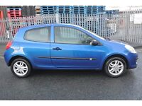 BARGAIN NEW SHAPE RENAULT CLIO 1.2 EXTREME BLUE 3 DOOR NEW 12 MONTHS MOT STARTS AND DRIVES VERY WELL