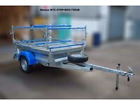 Mersea box trailer with rack for dinghies / Topper / laser / Canoes