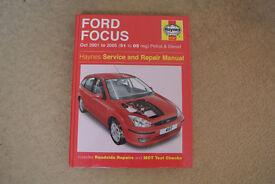 Haynes Manual Ford Focus 2001 - 2005