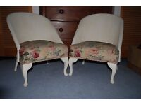 2 x Lloyd Loom style bedroom chairs, collect from Sully £25