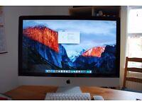 27 inch iMac, refurbished running latest OSX