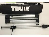 Thule Roof rack, Thule ranger 90 roof bag and Altera Giro bike carrier
