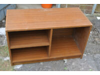 Wooden TV/Book stand with shelves