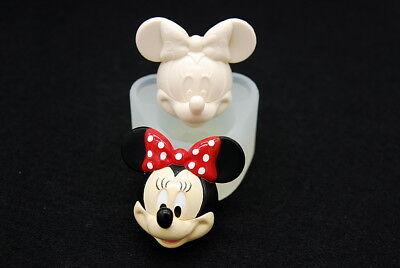 2D Cute Mouse #1, Silicone Mold Candle Chocolate Polymer Clay Jewelry Soap Wax